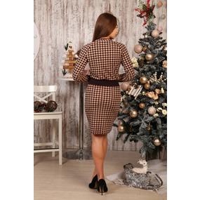Платье Влада гус. лапки на коричневом Д497 р 60 фото