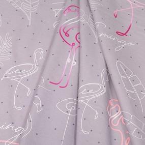 Ткань на отрез поплин 220 см 20573/1 Фламинго (основа) фото