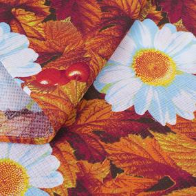 Полотенце вафельное 35/70 см 391/3 Жаркое лето цвет красный фото