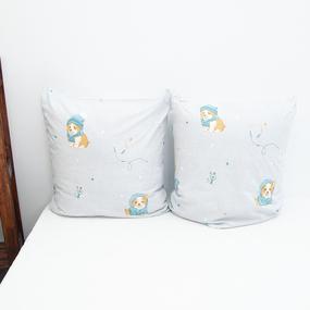 Наволочка Поплин детская 3062-1 Корги основа в упаковке 2 шт 70/70 см фото