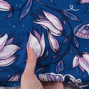 Ткань на отрез кулирка R4147-V4 цвет синий фото