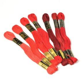Нитки мулине Цветик-семицветик 10м ПНК набор 7 мотков 3 красный лепесток фото