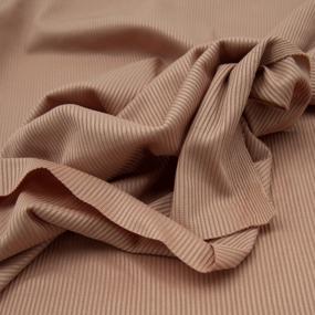 Ткань на отрез трикотаж лапша цвет персик фото
