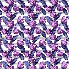 Ткань на отрез вафельное полотно набивное 150 см 3014/2 Тропики фото