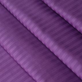 Ткань на отрез страйп сатин полоса 1х1 см 240 см 140 гр/м2 В006 цвет фиолетовый фото