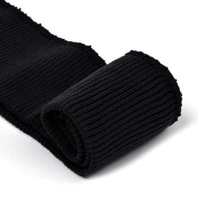 Подвяз 8х70 см 100% ПАН арт.ПРЦ-32/2 рапорт 2х2 плетение ластик цв. 534/0 черный 5шт фото