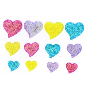 Набор пуговиц JESSE JAMES 8374 Блестящие сердечки 1 упак фото