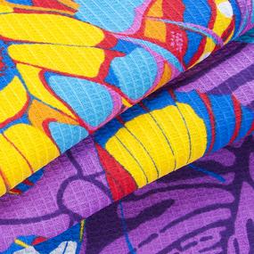Полотенце вафельное пляжное 441/3 Бабочки цвет фиолетовый 150/75 см фото