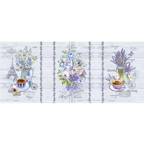 Ткань на отрез вафельное полотно набивное 150 см 12086/1 Прованс фото