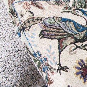 Наволочка гобелен декоративная 35/55 см Птица дивная 2516 фото