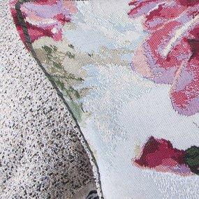 Наволочка гобелен декоративная 35/55 см Розы акварель фото