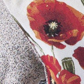 Наволочка гобелен декоративная 35/55 см Маки фото