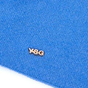Шапка женская на флисе 4 цвет голубой фото