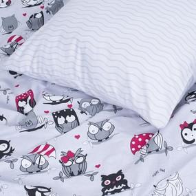 Детское постельное белье ВКТ014 Совы 1.5 сп поплин фото