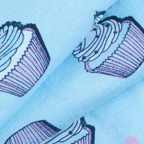Ткань на отрез кулирка карде Кексики 3253-V2 фото