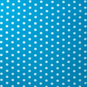 Ткань на отрез штапель 150 см 2452 Горох цвет бирюзовый фото