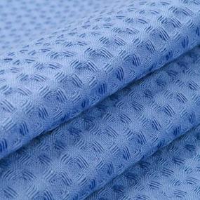 Ткань на отрез вафельное полотно гладкокрашенное 150 см 240 гр/м2 7х7 мм цвет 477 голубой фото