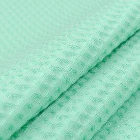 Ткань на отрез вафельное полотно гладкокрашенное 150 см 240 гр/м2 7х7 мм цвет 304 салатовый фото