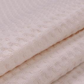 Ткань на отрез вафельное полотно гладкокрашенное 150 см 240 гр/м2 7х7 мм цвет 804 бежевый фото