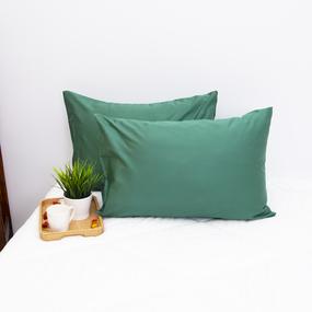 Наволочка сатин 60S 5613 Зеленый в упаковке 2 шт 50/70 фото