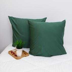Наволочка сатин 60S 5613 Зеленый в упаковке 2 шт 70/70 фото