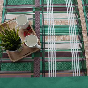 Простынь бязь 351/2 Клетка цвет зеленый 1.5 сп фото