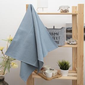 Полотенце вафельное банное Премиум 140/70 см цвет серый фото