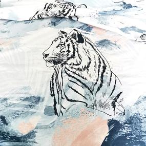 Ткань на отрез поплин 220 см 849-1 Дикие кошки компаньон фото