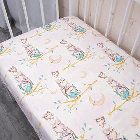 Простыня на резинке перкаль детская 13233/1 Owls Модель 5 160/80/15 см фото