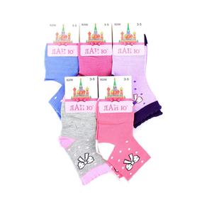 Детские носки Ланю 8206 хлопок размер 5-8 фото