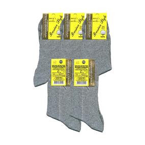 Мужские носки Русский Стиль P-1 серые рубчик хлопок размер 25 фото
