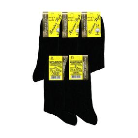 Мужские носки Русский Стиль P-1-1635 чёрные рубчик хлопок размер 25 фото