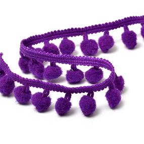 Тесьма с помпонами TBY-LC-20 ширина 15-20 мм цвет S865 (035) темно-фиолетовый фото