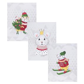 Набор вафельных полотенец 3 шт 50/60 см 3028-3 Мышиный король фото