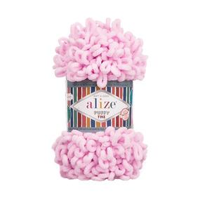 Пряжа ALIZE PUFFY FINE 194 - светло-розовый (100% микрополиэстер) фото