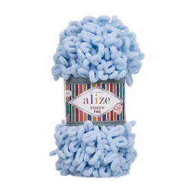 Пряжа ALIZE PUFFY FINE 218 - Детский голубой (100% микрополиэстер) фото