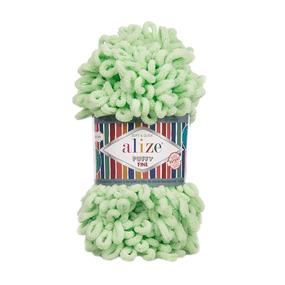 Пряжа ALIZE PUFFY FINE 516 - пастельно-зеленый (100% микрополиэстер) фото