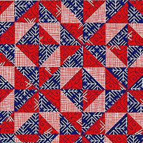 Полотно вафельное 150 см набивное арт 149 Тейково рис 30218 вид 2 Лоскутная геометрия фото