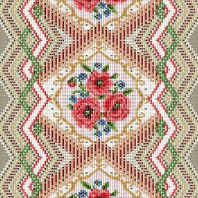 Дорожка 50 см набивная арт 61 Тейково рис 30101 вид 1 Цветочная мозаика фото