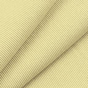 Ткань на отрез кашкорсе 3-х нитка с лайкрой цвет светло-желтый фото