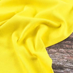 Ткань на отрез кашкорсе с лайкрой 2210-1 цвет желтый 2 фото