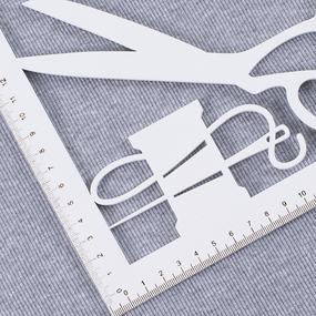 Ткань на отрез кашкорсе с лайкрой М-2000 серый меланж 2 фото