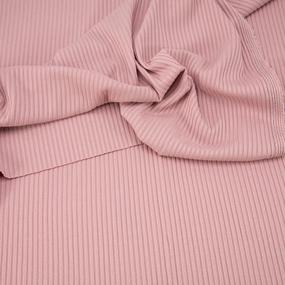 Ткань на отрез трикотаж лапша цвет пыльная роза фото