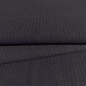 Ткань на отрез вафельное полотно гладкокрашенное 150 см 165 гр/м2 цвет черный фото