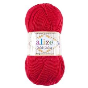 Пряжа для вязания Ализе BabyBest (90%акрил, 10%бамбук) 100гр цвет 056 красный фото