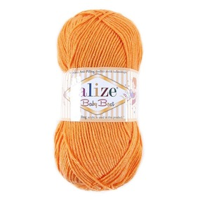Пряжа для вязания Ализе BabyBest (90%акрил, 10%бамбук) 100гр цвет 336 оранжевый фото