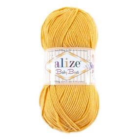 Пряжа для вязания Ализе BabyBest (90%акрил, 10%бамбук) 100гр цвет 488 желтый фото