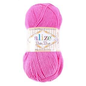 Пряжа для вязания Ализе BabyBest (90%акрил, 10%бамбук) 100гр цвет 561 ярко-розовый фото