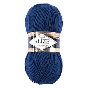 Пряжа для вязания Ализе LanaGold (49%шерсть, 51%акрил) 100гр цвет 215 черника фото