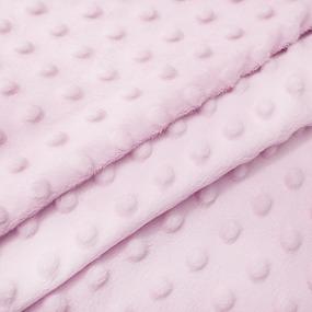 Плюш Минки Китай 180 см на отрез цвет розовый фото